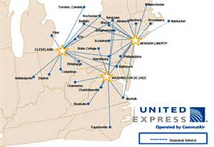 United Airlines Route Map