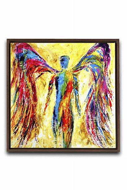Angel Canvas Paintings Bible Angels