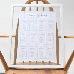 wedding table plan chain wedding table plan by says i do notonthehighstreet