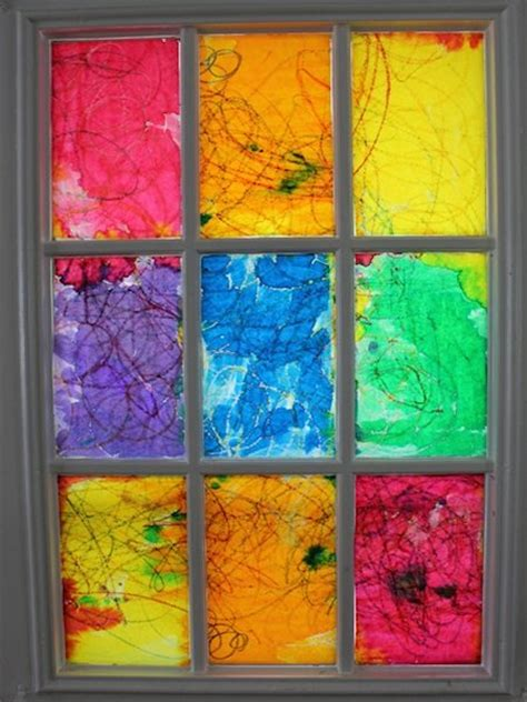 create  rainbow stained glass window lesson plans