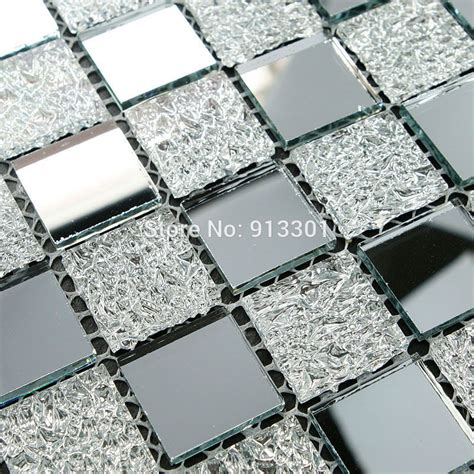 mirror glass tile glass mosaic tiles deco mesh mirror tile flooring cheap mirrored crystal backsplash hgt121
