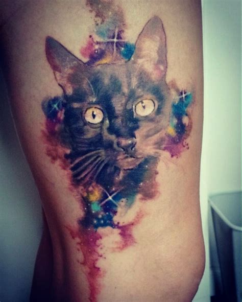 25+ Best Watercolor Cat Tattoo Ideas On Pinterest Cat