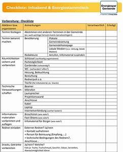 Haushalt Organisieren Checkliste : checkliste infoabend energiestammtisch pdf ~ Markanthonyermac.com Haus und Dekorationen