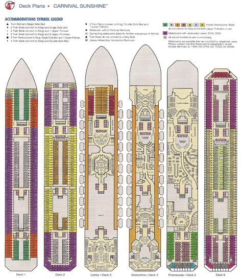 carnival deck plans pdf carnival deck plan pdf free bonus