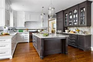 stylish two tone kitchen cabinets for your inspiration With kitchen cabinet trends 2018 combined with framed wall art for living room