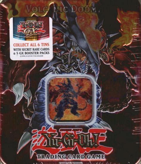 yu gi oh 2007 holiday volcanic doomfire tin da card world