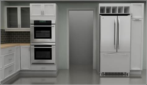 Double Wall Oven Cabinet   Home Design Ideas