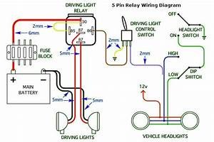 5 Pin Headlight Wiring Diagram For Cars And Trucks