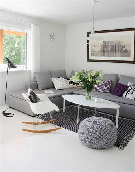 sofa gris claro  gris oscuro sofas grises decorar