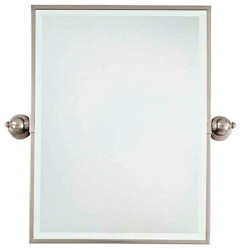 Bathroom Wall Mirrors Brushed Nickel by 15 Collection Of Brushed Nickel Wall Mirrors