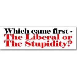 Liberals Are Stupid