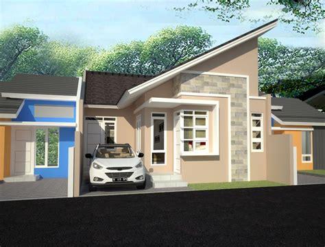 rumah minimalis  lantai atap miring desain rumah minimalis