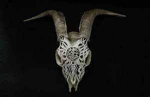 Goat Skull Carving  Raging Sun By Victorseiche On Deviantart