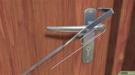 how to open a locked door 6 formas de abrir una puerta cerrada con llave wikihow