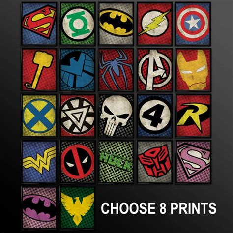 25 best ideas about superhero wall art on pinterest