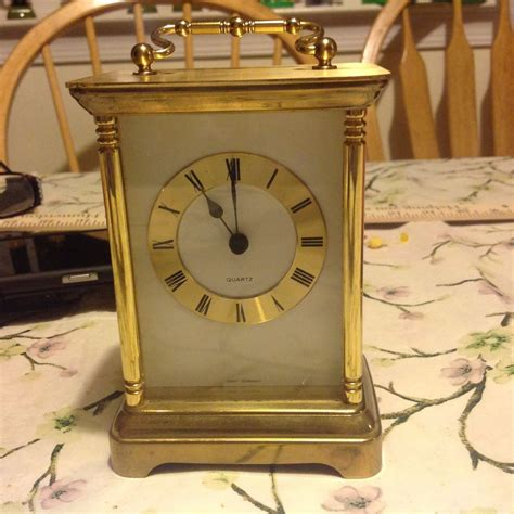 Bulova Desk Clock Made In Germany by Vintage Small Mantel Quartz Clock Made In West Germany Ebay