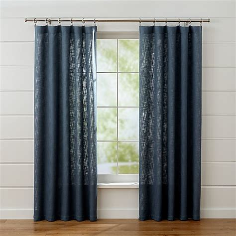 linstrom navy blue curtain panels crate  barrel