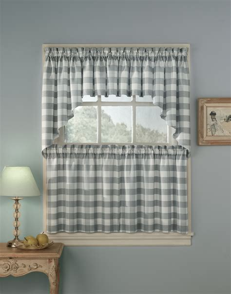 Kitchen Drapes And Curtains - rowan plaid kitchen curtains curtainworks