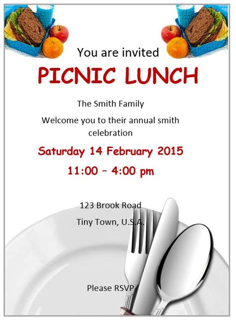 lunch invitation flyer template  flyer designs
