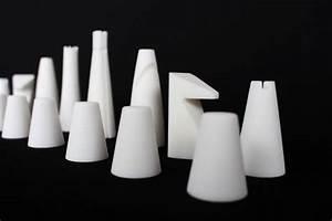 Jeu D échec Design : zweig le jeu d 39 chec monochrome imprim en 3d par byam ~ Preciouscoupons.com Idées de Décoration