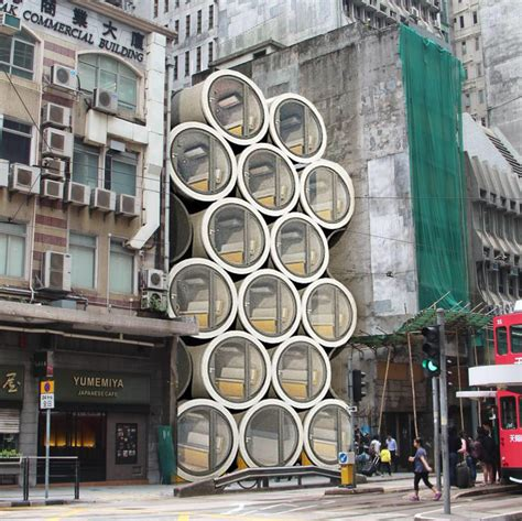 opod concrete pipe modern tiny apartment hong kong