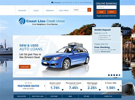 credit union website template credit union website design development