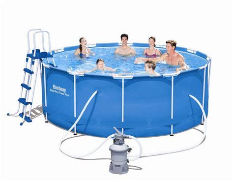 poolset mit sandfilteranlage bestway steel pro frame pool 366x122 mit sandfilteranlage 56414