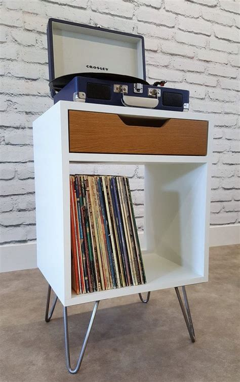 diy mid century modern tv console modern nightstand record player stand bedside by