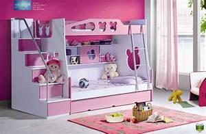 Lit Superposé Escalier : lit superpos enfants avec des panneaux escaliers et les ~ Premium-room.com Idées de Décoration