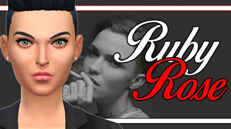 ruby rose youtube channel the sims 4 cas ruby rose youtube