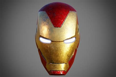 printable model iron man helmet mark  cgtrader