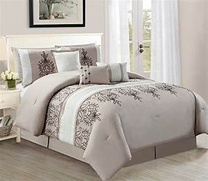 Empire, Home, Melissa, 7, Piece, Taupe, Silver, Oversized