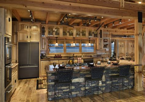 wine rack corner with doors with wooden material log cabin kitchens with modern and rustic style