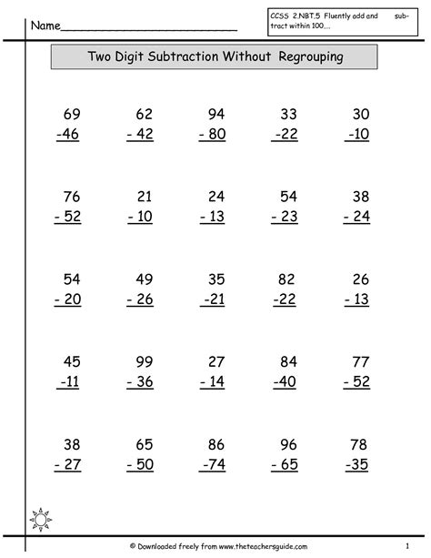 single digit vertical subtraction without regrouping single digit addition worksheets from the s guide
