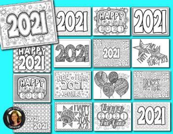 New Year 2020 Coloring Pages forand Adults by