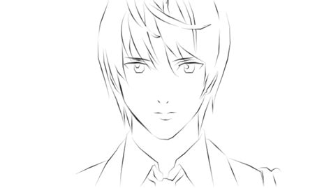 light yagami lineart picture  hichia drawingnow