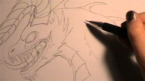 tutorial drawing  zombie dragon zombiedrache zeichnen