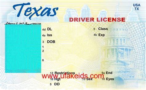tx fake id template id card template birth certificate