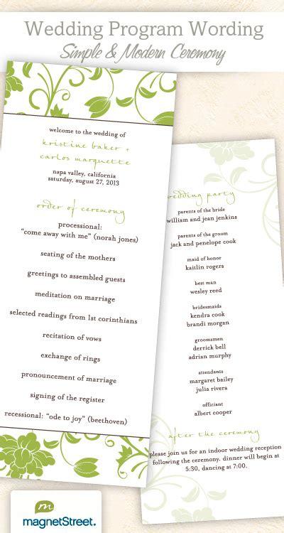 Exles Of Wedding Programs Templates by Wedding Program Wording Templateswedding Program Wording