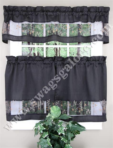 black kitchen curtains fairfield kitchen curtains valance tier pairs black