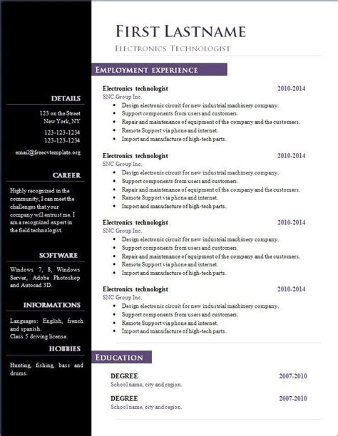 Interesting Resume Templates open office resume template 2017 learnhowtoloseweight net