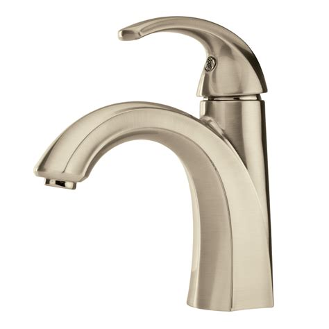 single hole bathroom sink faucet brushed nickel shop pfister selia brushed nickel 1 handle single hole 4