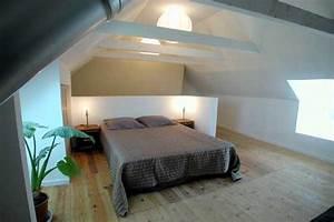 Bett 1 60 Breit : foto ferienhaus frankreich bretagne finistere plovan schlafzimmer unter dem dach bett 1 40 ~ Bigdaddyawards.com Haus und Dekorationen