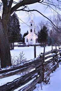Country Church Snow Scenes
