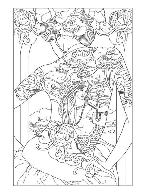 Tattooed Oriental Lady | Designs coloring books, Coloring