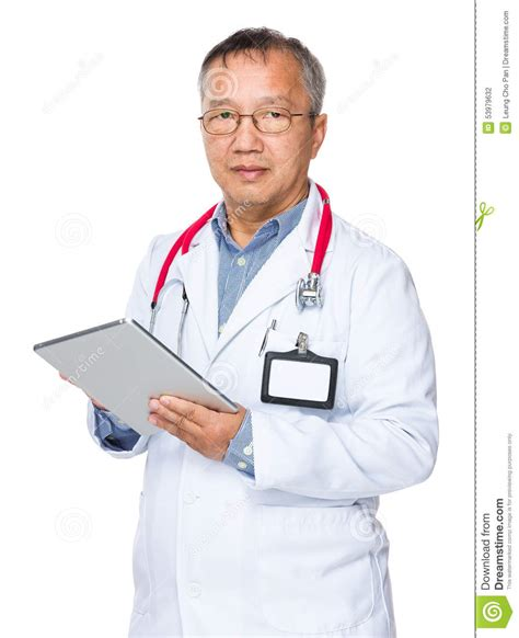 Doctor Tablett by Doctor Use Of Tablet Pc Stock Photo Image Of Background