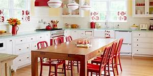deco cuisine retro et campagne chic 33 idees a piquer With deco cuisine avec ou acheter des chaises