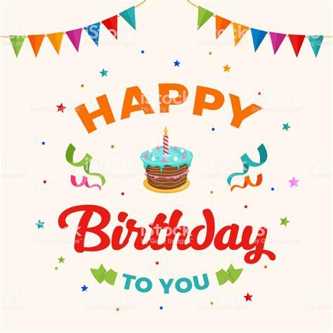 happy birthday   background vector birthday cake