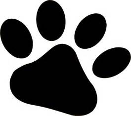 claw clip dog paw print stencil cliparts co