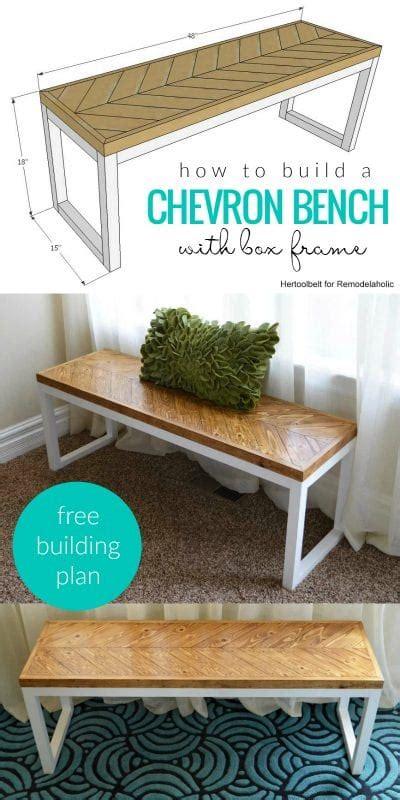 remodelaholic diy wood chevron bench  box frame